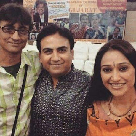 Amit Bhatt With Disha Vakani and Dilip Joshi