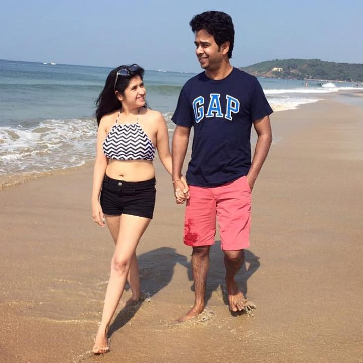 Neha Narang With husband
