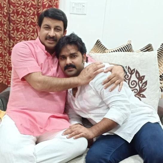 Pawan Singh With Manoj Tiwari