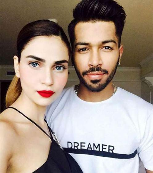 Lisha Sharma with Hardik Pandya