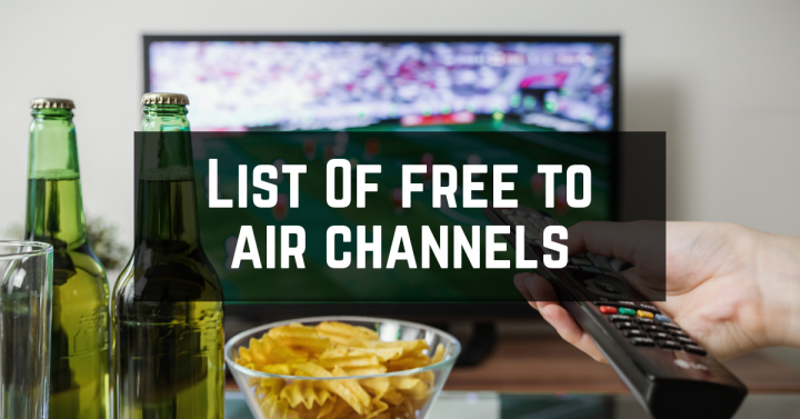 List Of free to air channels