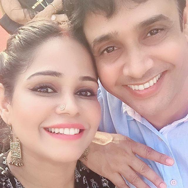 Garima Vikrant Singh With Husband